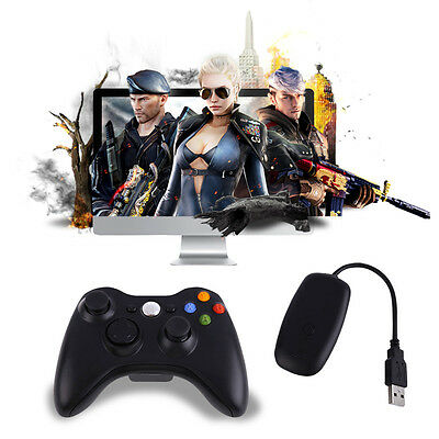 Black Wireless Game Gaming Remote Controller for Microsoft Xbox 360 Console UK