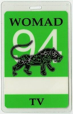 Womad TV 1994 Laminated Backstage Pass