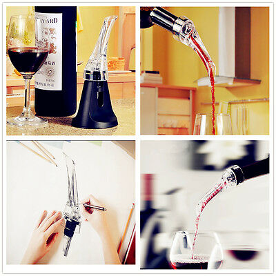 Portable Red Wine Aerating Bottle Pourer Decanter Travel Quick Air Aerator Box D
