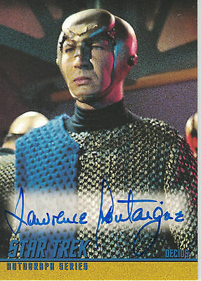 Star Trek TOS 40th Anniversary (2006) A107 Lawrence Montaigne autograph