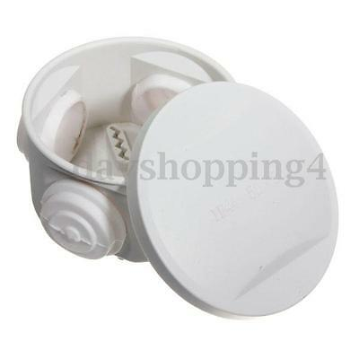 1/2/4Pcs Waterproof Round Junction Box Plastic Electric Enclosure Case IP44