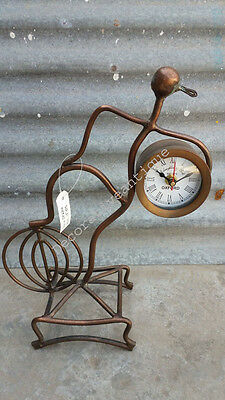 Antique Reproduction Egret Table /Desk Clock Home and Office Decor