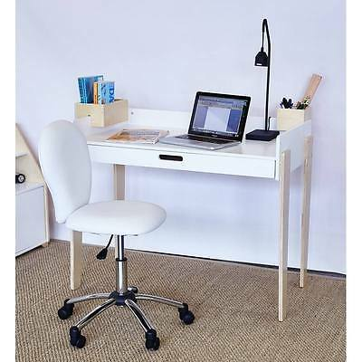 HipKids Benji Study Computer Table & White Chair Desk Drawer Bedroom Furniture