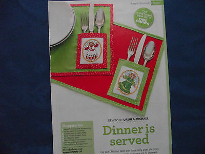 Lovely Christmas Angel Placemats With Cute Cutlery Pockets Cross Stitch Chart