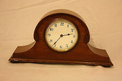 Pretty Antique Swiss Made Walnut Mantel Clock - Great Condition