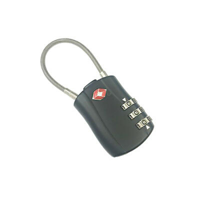 TSA Approved Luggage Suitcase Travel 3-Dial Combination Security Padlock-BLK