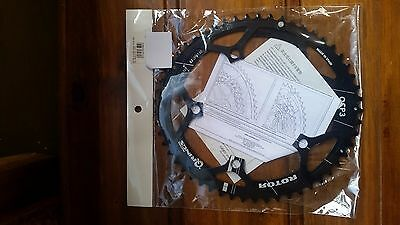 Rotor Q Ring - Road Aero Outer - Black - 110 53T - Brand New