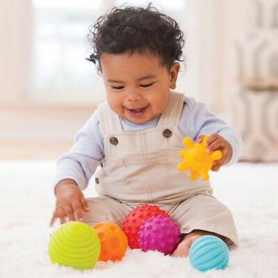 4pcs Baby Kid Colorful Soft Message Sensory Ball Puzzle Early Educational Toy