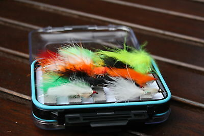 45 Assorted Special Lures Flies Selection in Fly Box