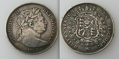 Collectable 1817 King George III Silver Half-Crown Coin