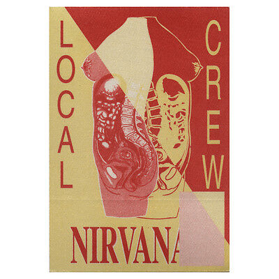 Nirvana Red Local Crew 1993 Backstage Pass