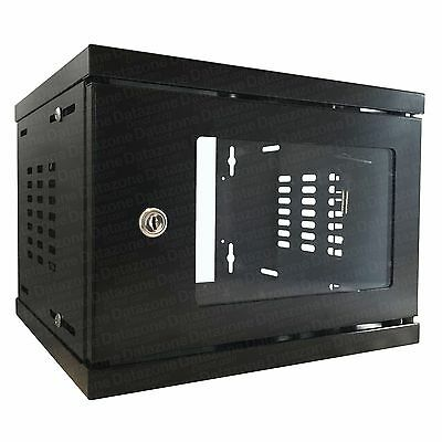 "4u 10"" 300mm SOHO Deep Black Wall Mounted Data Cabinet Comms Rack Server Cabinet"