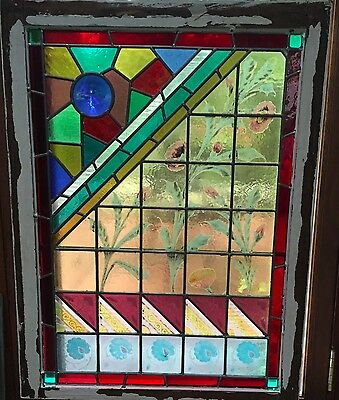 Antique Eastlake Stained Glass Window