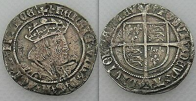 Collectable Henry VIII 1526-44 Silver Hammered Groat - Mint Mark Lis