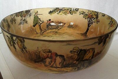 Antique pottery centerpiece bowl Royal Doulton signed & numbered 1850-1899