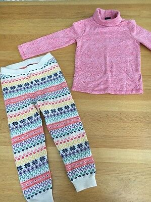 Gap Cosy Turtle Neck And Knitted Leggings Outfit 3 Years Ex Con
