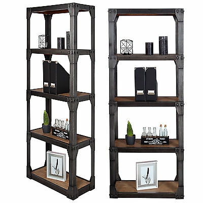 b cherregal industrie look delhi wandregal mangoholz eisen. Black Bedroom Furniture Sets. Home Design Ideas