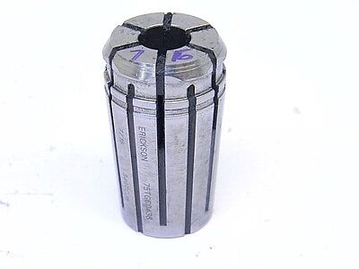 "USED KENNAMETAL ERICKSON TG75 x 7/16"" SINGLE ANGLE COLLET TG-75 x .4375"" COOLANT"