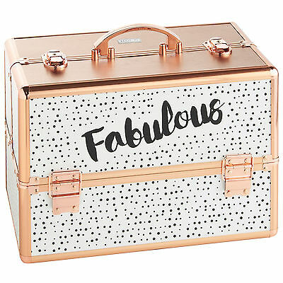 Beautify Large 'Fabulous' Dotty Beauty Case Cosmetic Makeup Vanity Nail Box