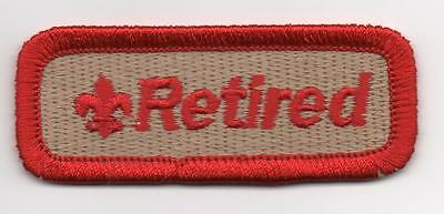 "Retired Scouter Strip, ""Scout Stuff"" Slogan Backing, Mint!"