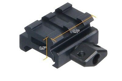 """Leapers UTG 0.5"""" 2-Slot Low Compact Riser Mount Weaver Picatinny Base MNT-RS05S2"""