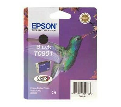 Epson T0801 Nero Inkjet / Getto d'Inchiostro Cartuccia Originale