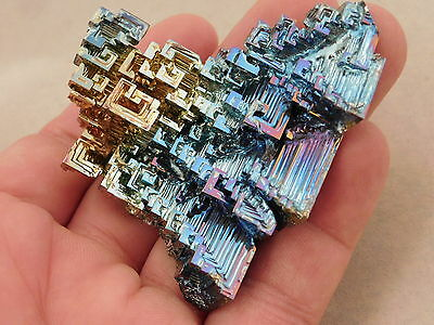 A BIG! Blue Purple and Gold BISMUTH Crystal From Germany! 114.7gr