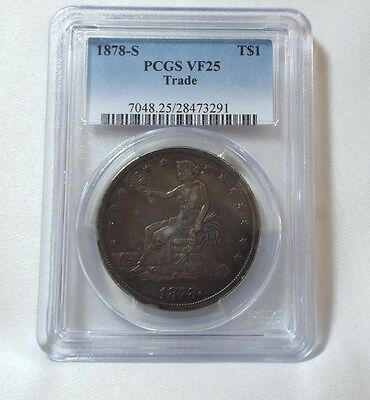 1878-S Silver Trade Dollar CERTIFIED PCGS  VF 25