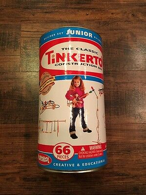 Classic TINKER TOY Construction 59/66 Piece Set