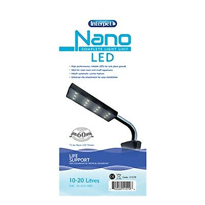 Interpet Nano Led Complete Light Unit Fish Tank Aquarium Tropical Plant