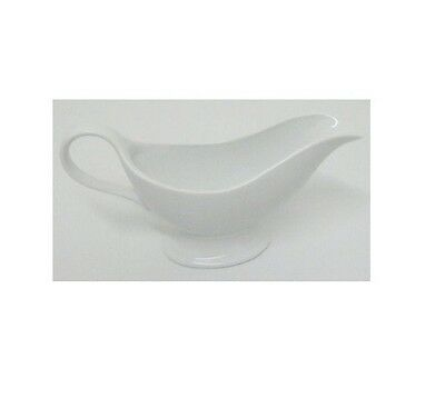 Brand New 200ML / 8FLoz White Ceramic Gravy Sauce Boat Jug