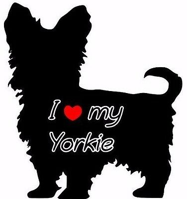 I Love My Yorkie Car Sticker Looks Fab Must See.