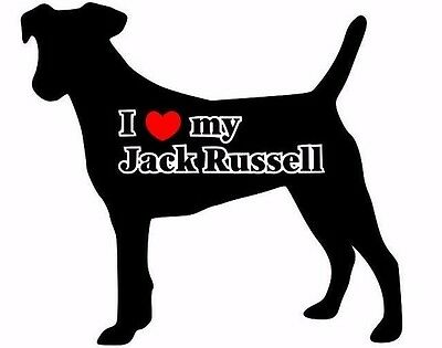 I Love My Jack Russell Car Sticker Looks Fab Must See.
