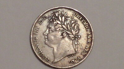 1824 Sixpence.George 1111.Higher Grade.Scarcer Date.British Milled Silver.#1826