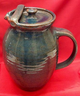 Bolick, N. C. Art Pottery, Covered Ice Lip Pitcher