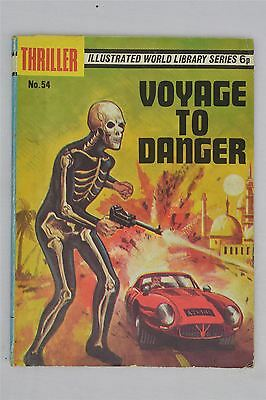 Thriller 54 Voyage To Danger Vintage Comic Picture Strip World Library Series