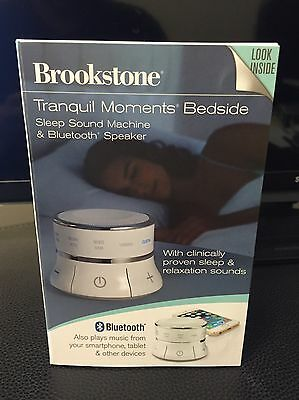 Tranquil Moments Bedside Speaker & Sleep Sounds By Brookstone, New