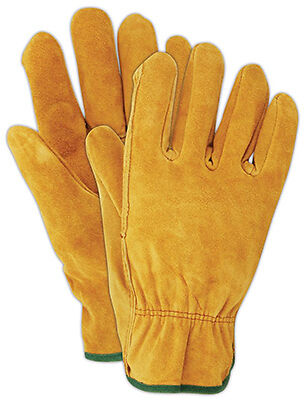 MAGID GLOVE & SAFETY MFG. - Suede Leather Work Gloves, Men's Large