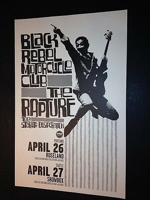 Black Rebel Motorcycle Club BRMC Rapture Portland Oregon Concert Tour Gig Poster