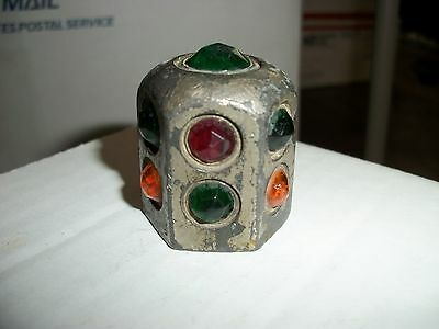 LQQK! Old Model T ERA Vintage GLASS Jewel Dash LIGHT Auto CAR AnTiQuE