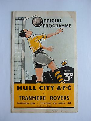 Hull City v Tranmere Rovers 1948/1949 - Football Programme