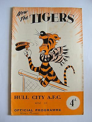 Hull City v Oldham Athletic 1956/1957 - Football Programme