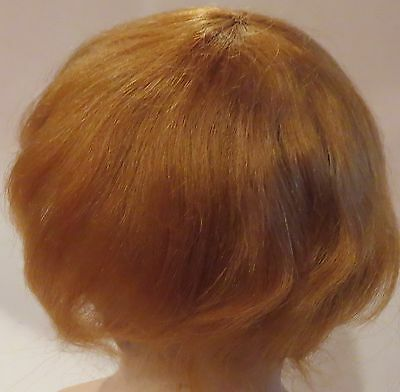 "#331 8-12""  Auburn Pure Mohair Wig for Antique Character Baby Doll"