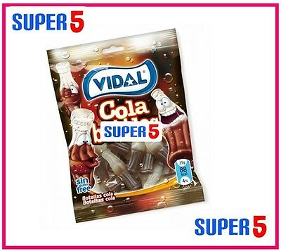 14 x VIDAL COLA BOTTLES PACKETS 100G- PARTIES,FILLERS,FAVOURS