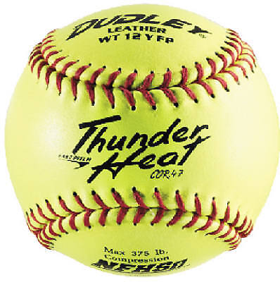 12-Inch Dudley Yellow Thunder Heat Fast-Pitch Softball