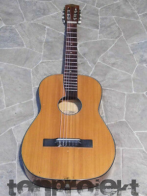 fine all solid tigerflamed maple classical parlor GUITAR Germany 1960s vintage