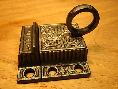 Antique Victorian Eastlake Windsor Transom Window Lock Latch Cupboard Cabinet