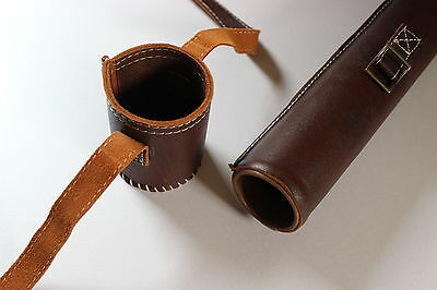 *** Deluxe leather fly rod tube case ***