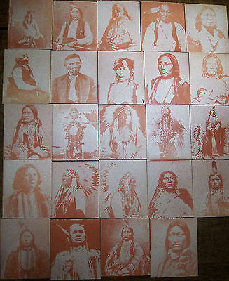 vintage Indian/Native American trading cards Lot of 24-numbered 101 to 124