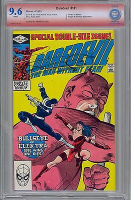 Daredevil #181 Frank Miller Signed 9.6 CBCS Verified like CGC